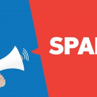 email marketing message shouting spam will be ignored
